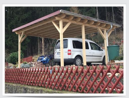 Karpstein bedachungs gmbh carport mit trapezblechen for Carport bedachung