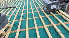 Braas 7Grad Dach als Pultdach mit Harzer Pfanne F
