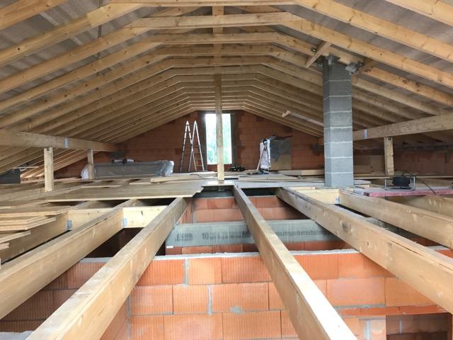 Herstellung eines Dachstuhls